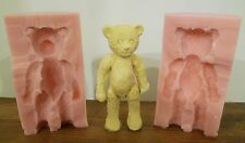 3D TRADITIONAL VINTAGE TEDDY BEAR SILICONE MOULD FOR EDIBLE CAKE TOPPER CLAY ETC