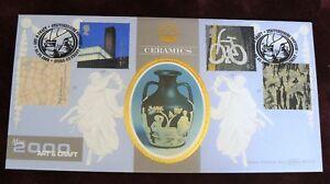 GB 2000 BENHAM BLCS180  FDC - ART & CRAFT Ceramics - Shs STOKE ON TRENT