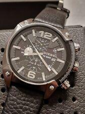 DIESEL DZ4341 Overflow Black Dial Black Leather Quartz Men's Watch