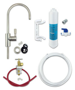 Under Sink Drinking Water Filter Kit System - Finerfilters Classic Includes Tap