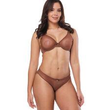 Women Sheer See Through Unlined Bra Underwired Ultra thin Underwear Plus Size