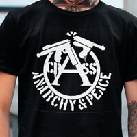 CRASS ANARCHY AND PEACE LOGO T SHIRT S-XXL TShirt HARDCORE T-Shirt Punk