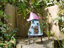 Handmade Rustic Metal Colourful Fairy Treehouse Patio/Garden Ornament (5307)