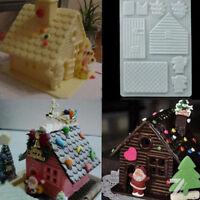 3D DIY Christmas Cake House Fondant Chocolate Mould Xmas Cake Cutter Mold Simple