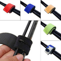 Outdoor Fishing Rod Tie Strap Belt Tackle Elastic Wrap Band Pole Holder Tools