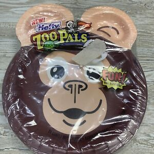 Sealed ZOO PALS 24 PC VARIETY PACK PAPER PLATES Hefty Surprise Combo NEW