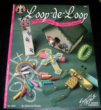 LOOP-DE-LOOP ~ PLASTIC CANVAS & LACE PATTERN BOOK ~ BUNNY BASKET ~ KEY CHAINS +