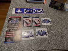 Baseball Lakewood Blueclaws Logo Fan Package 2 decals, bumper sticker 2001 skeds