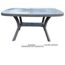 tavolo in resina tortora 136 x 82 x 72 h cm giardino esterno piscina