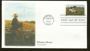 2010 Richmond Virginia - American Landscape Painter Winslow Homer Fleetwood FDC