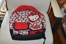 cartable neuf hello kitty tres grand 40 cm rouge blanc boutique maroquinerie
