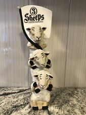 3 Sheeps Brewery Brewing 3 Wise Sheeps Rams Drunk Beer Tap Handle