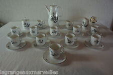 Magnifique service à café porcelaine de Baudour Cerabel