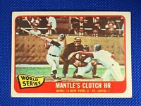1965 TOPPS #134 MICKEY MANTLE'S CLUTCH HOME RUN WORLD SERIES GAME #3 | Yankees