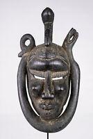 AB9 Senufo alte afrikanische Kpelye Maske / Masque Senoufo / Old tribal mask