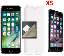 """5x Clear LCD Screen Protector Cover Guard For Apple iPhone 7 Plus/8 Plus 5.5"""""""
