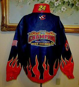 NWT JEFF HAMILTON JEFF GORDON SZ XXL CHAMPION NASCAR WINSTON CUP LEATHER JACKET