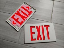 Cooper EXIT Sign Face Plate Snap-In Emergency Light Covers, 2 Pack 13
