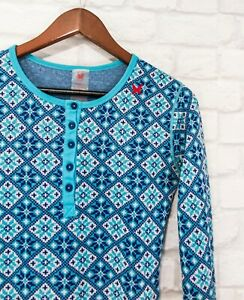 Kari Traa 100% Merino wool Thermal Base Layer Womens Top Sweater Blue size L
