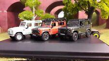 1:76 OO Land Rover Defender TDCi 90 Heritage Vert Aventure Autobiography x3