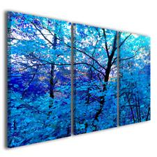 Quadri moderni Black and Blu paesaggi e natura blue stampa tela canvas ® quality