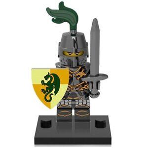 Mini figurine personnage Chevalier au dragon armure et bouclier + Arme Neuf