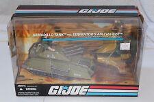 NEW GI Joe 25th Anniversary Armadillo Tank vs. Serpentor's Air Chariot MISB