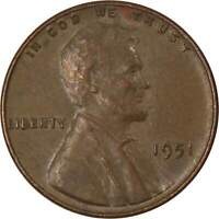 1951 Lincoln Wheat Cent AG About Good Bronze Penny 1c Coin Collectible