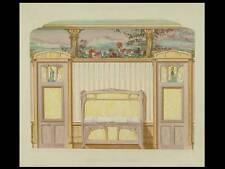 DECOR ART NOUVEAU, CHAMBRE - 1900 - GRANDE LITHOGRAPHIE