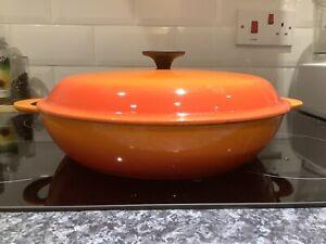 Le Creuset Cast Iron Shallow Casserole - 30cm Volcanic Orange