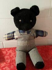 """Bear Teddy Bear Handmade With Overall Body 18"""" Black"""