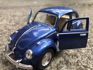VW BEETLE BLUE TOY MODEL CAR IDEAL GIFT COMPANY DESKTOP DISPLAY ITEM NEW 1/32