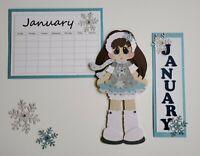 Sock Monkey Girl Brunette Paper Piecing
