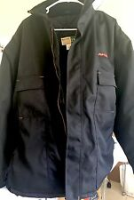 WEARGUARD 2XL WINTER WORK COAT Quilted Jacket Hooded Black Pre Owned AVFLIGHT