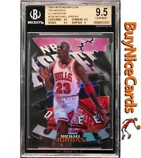 1997-98 Michael Jordan Stadium Club Triumvirate Illuminator #T9B SP Insert BGS 9