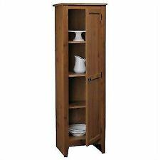 Ameriwood 7303028 Milford Single Door Storage Pantry Cabinet Old Fashioned Pine - Brown
