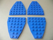 Lego 4 ailerons bleus set 6903 6353 6973 6441 / 4 blue plate wedge