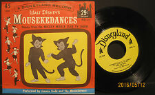 "Walt Disney's ""Mousekedances"" - 1962 Disneyland Records 45 with Picture Sleeve"