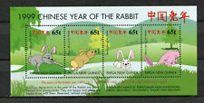 s8549) PAPUA & NEW GUINEA MNH** Nuovi** 2000, Year of the rabbit s/s