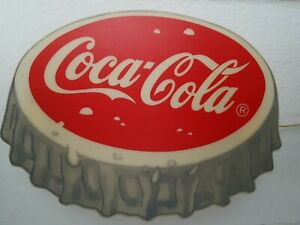 Coca Cola Reklame Lampe Leuchte Schild Alt Original Deko Werbung Kronkorken