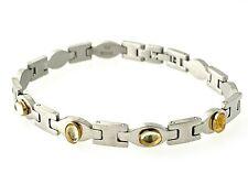Natural  kunzite Bracelet Stainless Steel & 18k Yellow Gold  #14