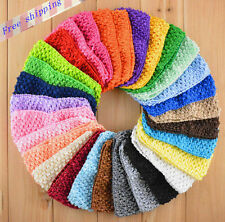10pcs 3inch 3''crochet headband Toddler baby girl hair bows 26color for choose