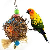 Eg _ Perroquet Chewing Jouet Rotin Boule avec Papier Bandes pour Perruche Bird