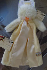 BUNNIES BY THE BAY CARROTS DUCK LITTLE BUDDY BABY BLANKET YELLOW SATIN LOVEY