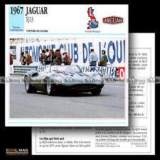 #011.15 JAGUAR XJ 13 (XJ13) V12 1967 - Fiche Auto Car card