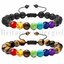 7 Chakra Healing Beaded Bracelet Lava Stone Diffuser Bracelet Men Women Jewelry