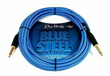 Dean Markley Model BSIN20S Blue Steel 20 Ft. Instrument Cable.  Free U.S. Ship!