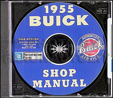 1955 Buick Shop Manual CD Special Roadmaster Super Century Repair Service