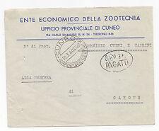 F806-RSI-LETTERA DA CUNEO CON 0,50 P.PAGATO