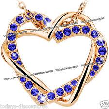 Corazón Amor Collar Azul Cobalto Cristal Regalo Para Ella Novia Mujer Madre De